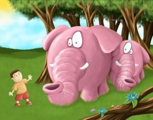 Calvin Innes Pink Elephant