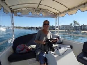Sharon Powers on the Sea